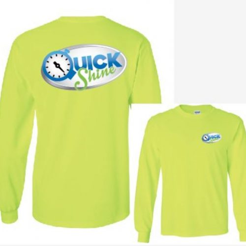 Quick Shine Bayside Long Sleeve Tee Lime Green in Lake Havasu City