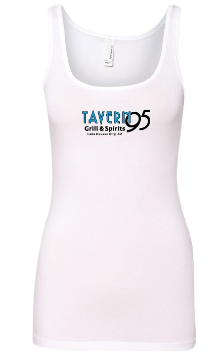 Tavern 95 Ladies Tank White in Lake Havasu City