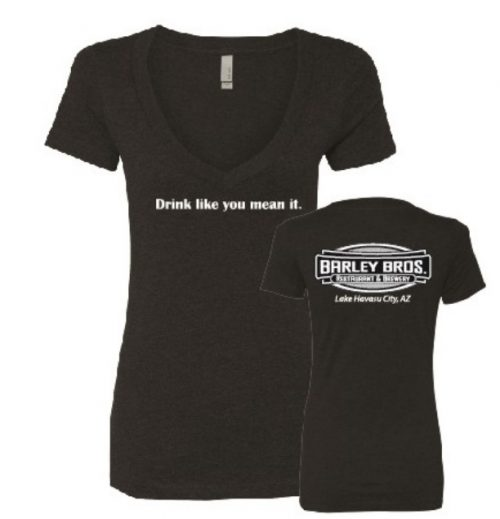 Barley Brothers Retail Ladies V-Neck Black in Lake Havasu City