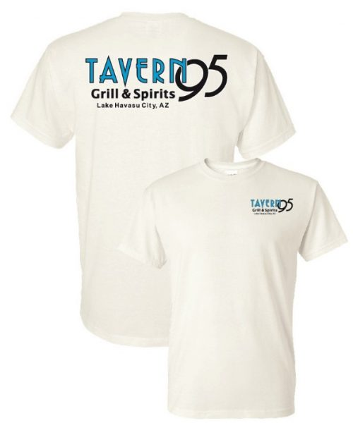 Tavern 95 Unisex Pigment Dye Tee White in Lake Havasu City
