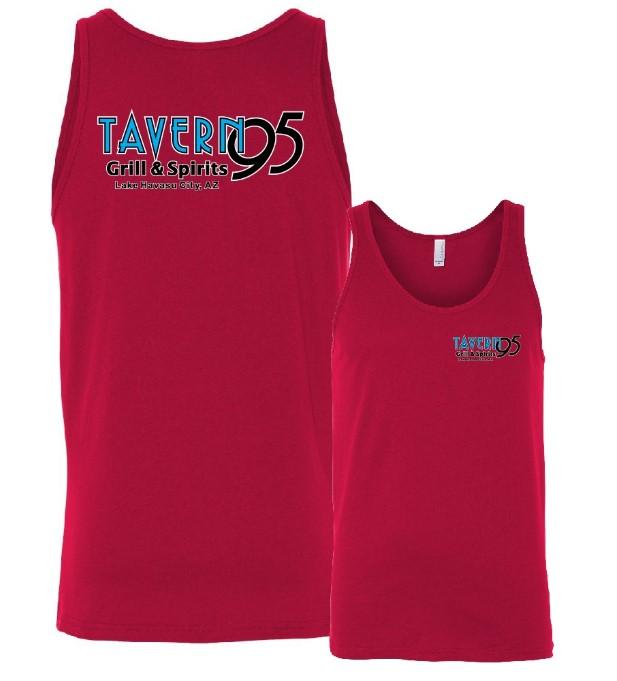 Tavern 95 Unisex Tank- Red in Lake Havasu City